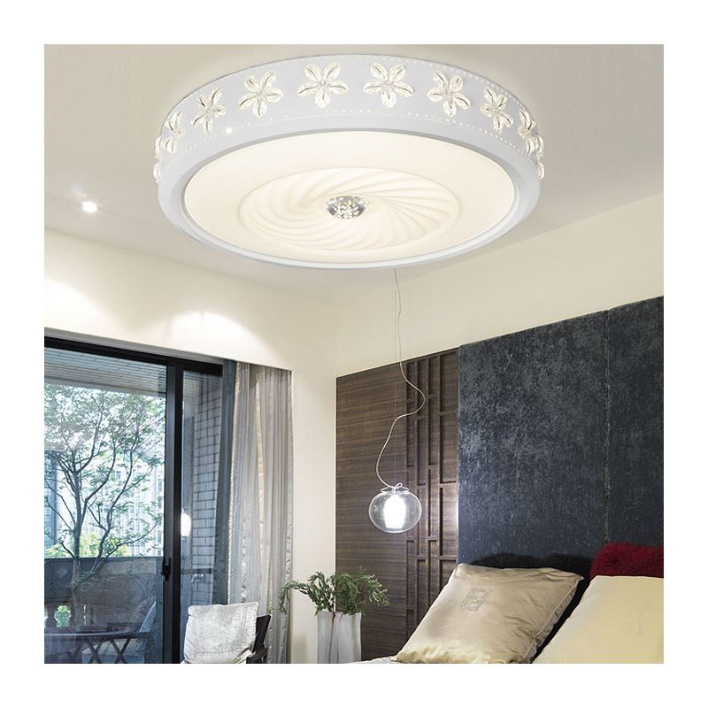 Modern Simple Fashion Led Dimmable Acrylic Round Engraving