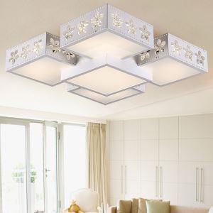 Modern Simple Flush Mount Fashion LED Dimmable Acrylic Sakura Square Flush Mount Living Room Bedroom Dining Room Energy Saving