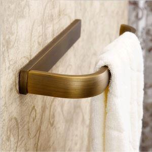 European Antique Bathroom Accessories Copper Single-layer Towel Bar