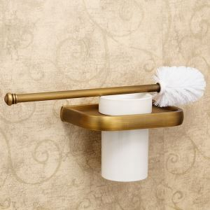 European Antique Bathroom Accessories Copper Toilet Brush Holder