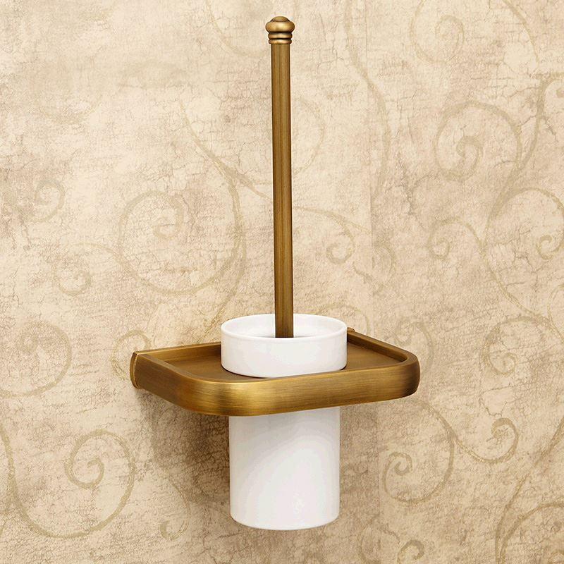 European Antique Bathroom Accessories Copper Toilet Brush
