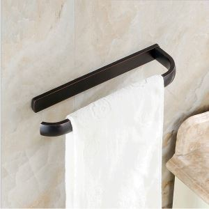 European Antique Bathroom Accessories Copper ORB Single-layer Towel Bar