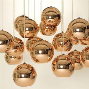 Glass Globe Pendant Light Minimalist Metal Glass Electroplating