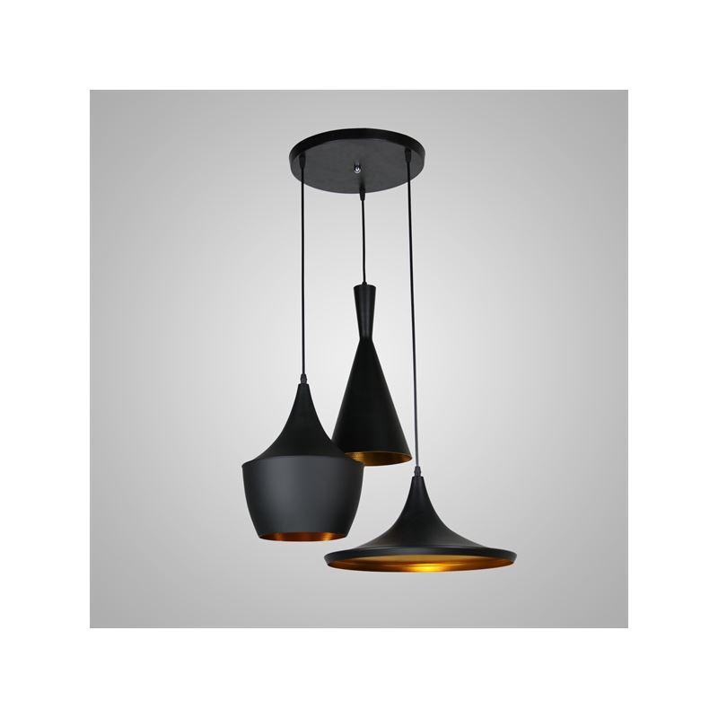 Modern Copper Ring Led Pendant Lighting 10758 Shipping: (In Stock) Pendant 3 Light American Style Black Chandelier