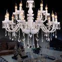 Chandelier Crystal Luxury Modern 2 Tiers Living Room Chandelier 12 Lights