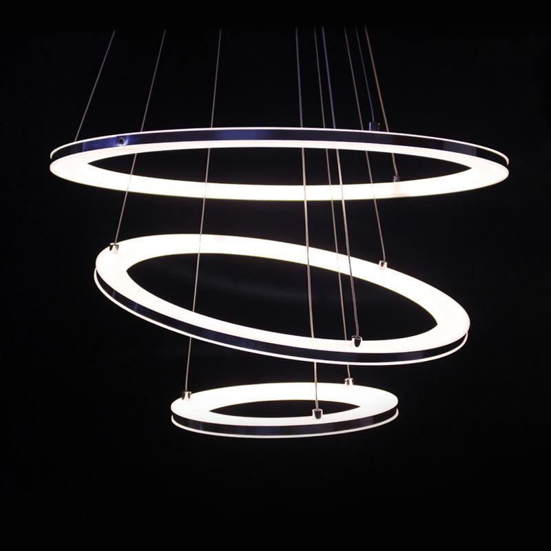 Modern Simple Acrylic Led Circle Pendant Light 3 Tiers Energy Saving