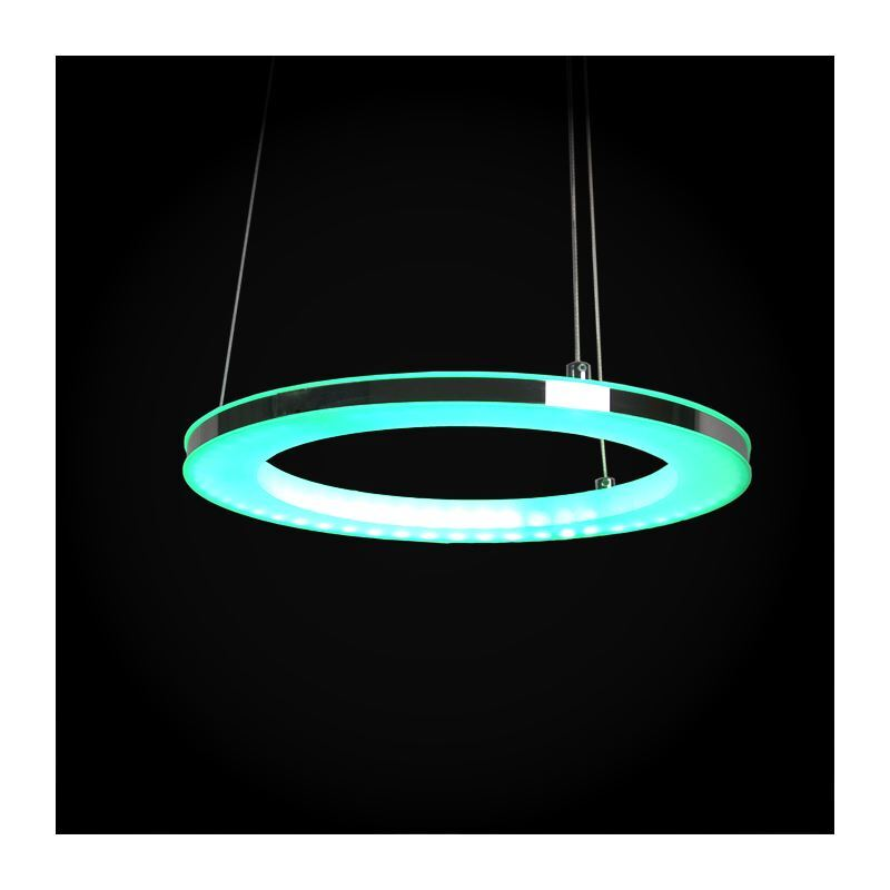 Modern Simple Led Pendant Light Acrylic Led Rgb Circle Pendant Light Energy Saving
