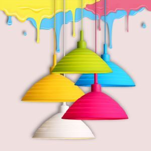 Simple Collapsible Colorful Silicone Pendant Light