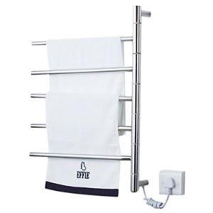 Swivel Towel Warmer 50W Swing Arm Wall Mount Circular Tube Drying Rack
