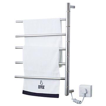 Swivel Towel Warmer 50w Swing Arm Wall Mount Circular Tube