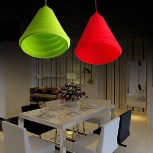 Rustic Style Colorful Silicone Pendant Light