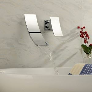 Bathroom Sink Faucets Contemporary Waterfall Stainless Steel Chrome