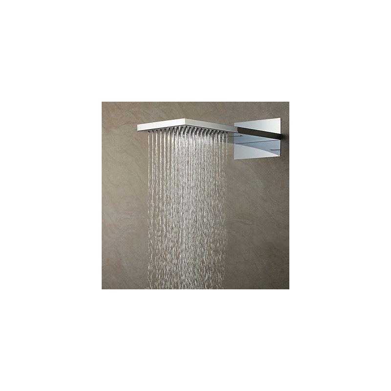 High Pressure Rain Shower Head Thin Square 55 215 38 Cm A Grade Abs Chrome Finish Wall Mounted