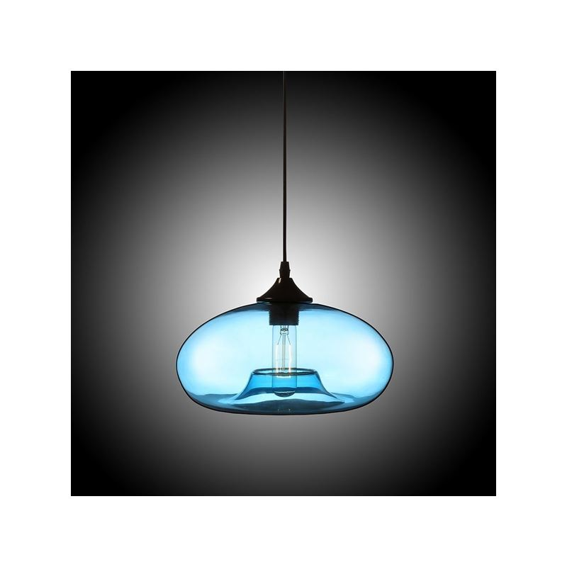 Modern Glass Pendant Light Hand Blown Colorful Bell Shaded