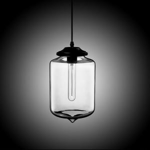 (In Stock) Modern Transparent Glass Pendant Light  Hand Blown Colorful with 1 Light Plain Color Dining Room Lighting Ideas Living Room Bedroom Lighting