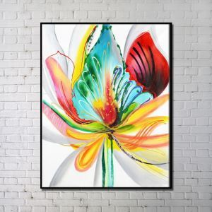 Contemporary Wall Art Colorful Flower Abstract Printing without Frame 36'*48'