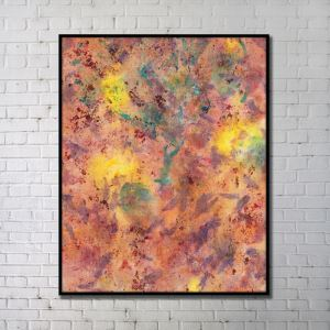 Contemporary Wall Art Blaze Abstract Wall Print without Frame 36'*48'