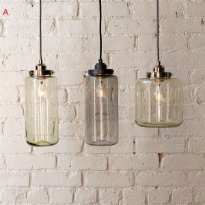 (In Stock) Modern Transparent Glass Pendant Light with 3 Lights Dining Room Lighting Ideas Living Room Bedroom Lighting