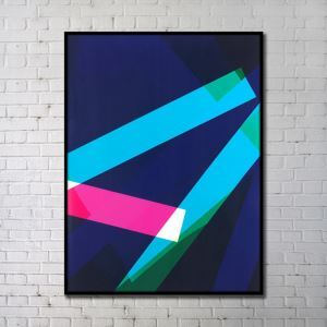 Contemporary Wall Art Geometric Abstract Print without Frame 36'*40' C