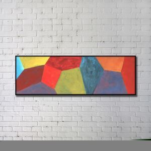 Contemporary Wall Art Colorful Geometric Abstract Print without Frame 60'*20' B