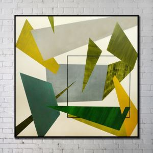 Contemporary Wall Art Colorful Geometric Abstract Print without Frame 40'*40' H
