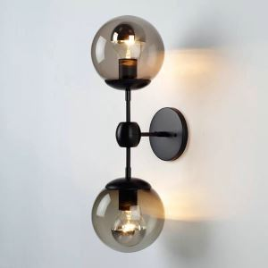Vintage Two Lights Sconce Bubble Wall Lamp