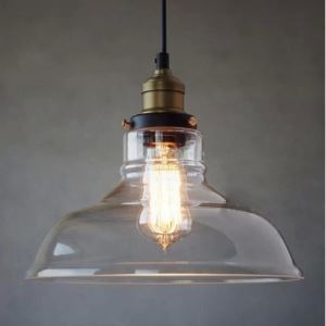 Clear Bowl Shade 1 Light Mini Semi Flush Ceiling Light