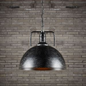 12 Inches Wide Galvanized Iron One Light Industrial Pendant Lighting