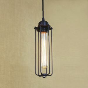 Industrial One Light Mini Hanging Pendant in Pewter Finish
