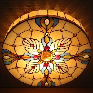 Baroque Style Tiffany Flush Mount Ceiling Light