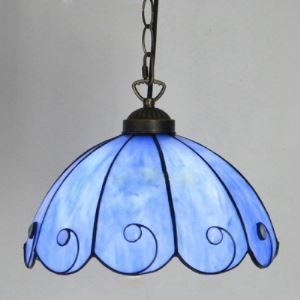 Blossom Shade 12 Inch Mini Hanging Pendant Lighting in Tiffany Stained Glass Style