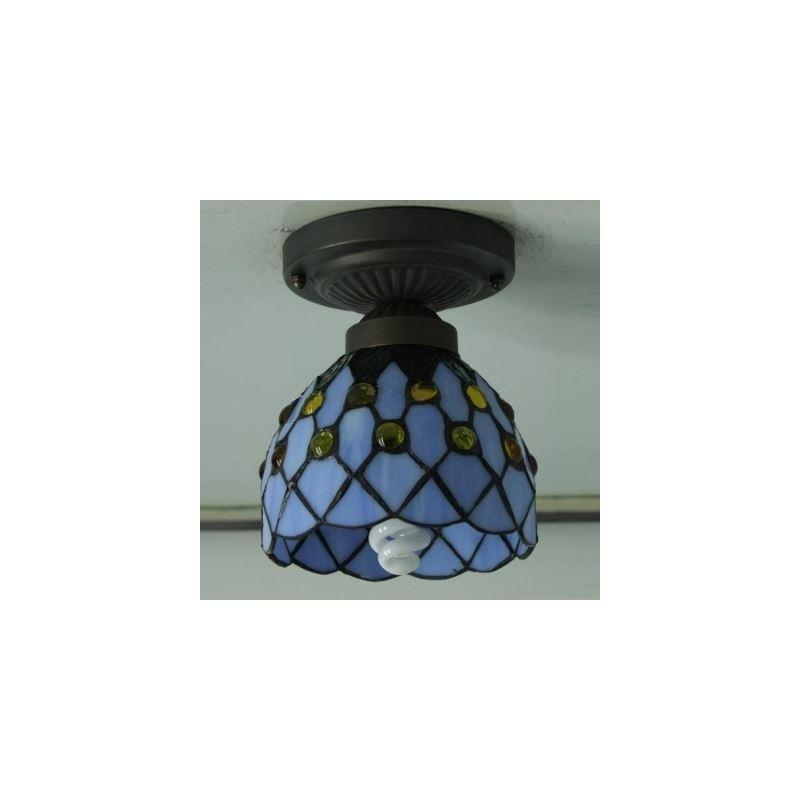6 Inch Mini Semi Flush Mount Ceiling Light In Tiffany