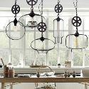 Axle Included Clear Glass Industrial Pendant Light