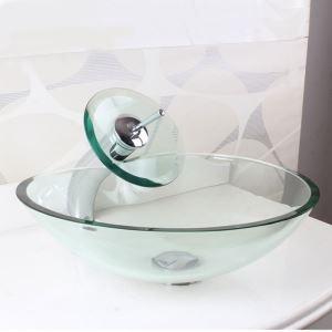 Modern Fashion Heart Shape Tempered Glass Sink