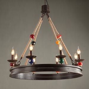American Rural Industrial Retro Antique lamp, Wrought Iron Chandelier Bar Cafe bar Billiard Droplight