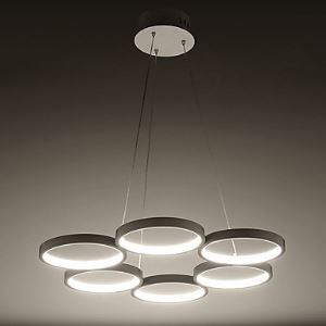 The Circular Ring Acrylic Chandelier Chandelier Style Warm Energy Saving