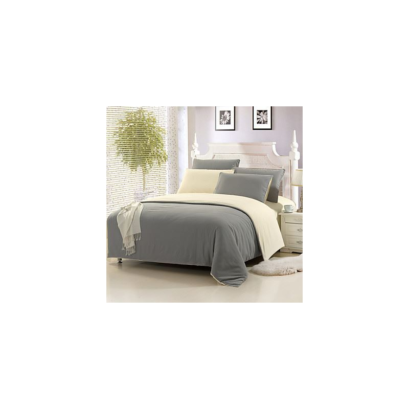 bed side table light gray color cotton duvet cover sets 4 suit 29869