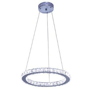 Modern/Contemporary LED Crystal Stainless Steel D40cm Pendant Lights Living Room / Bedroom / Dining Room