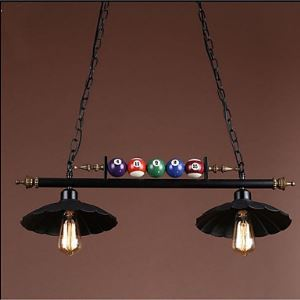 American Country Industrial Restoring Ancient Ways, Antique, Wrought Iron Pool Droplight