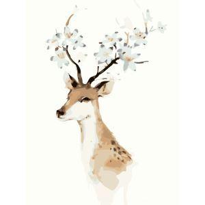 Modern Simple DIY Hand Panting DIY Oil Painting Deer Design 40*50 A