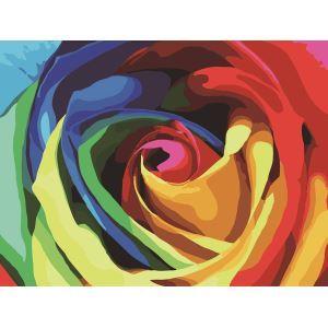 Modern Simple DIY Hand Panting DIY Oil Painting Roses Wall Art 30*40