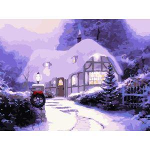 Christmas Modern Simple DIY Hand Panting DIY Oil Painting Christmas Snow Wall Art 30*40 Christmas Gift Christmas Decortaion
