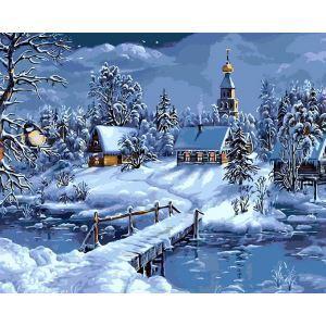 Christmas Modern Simple DIY Hand Panting DIY Oil Painting Christmas Eve Wall Art 40*50 Christmas Gift Christmas Decortaion