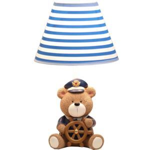 Modern Simple Bear Modeling Master Lamp Linen Shade