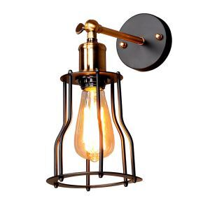 American Sconce Antique Iron Art Individuality Style Iron Shelf Single Head Wall Lamp