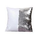 Mermaid Pillow Cover Silver/White Change Color Sequins Cushion Inverted Flip Sequin Pillow Cover