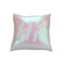 Mermaid Pillow Cover Champagne/White Change Color Sequins Cushion Inverted Flip Sequin Pillow Cover