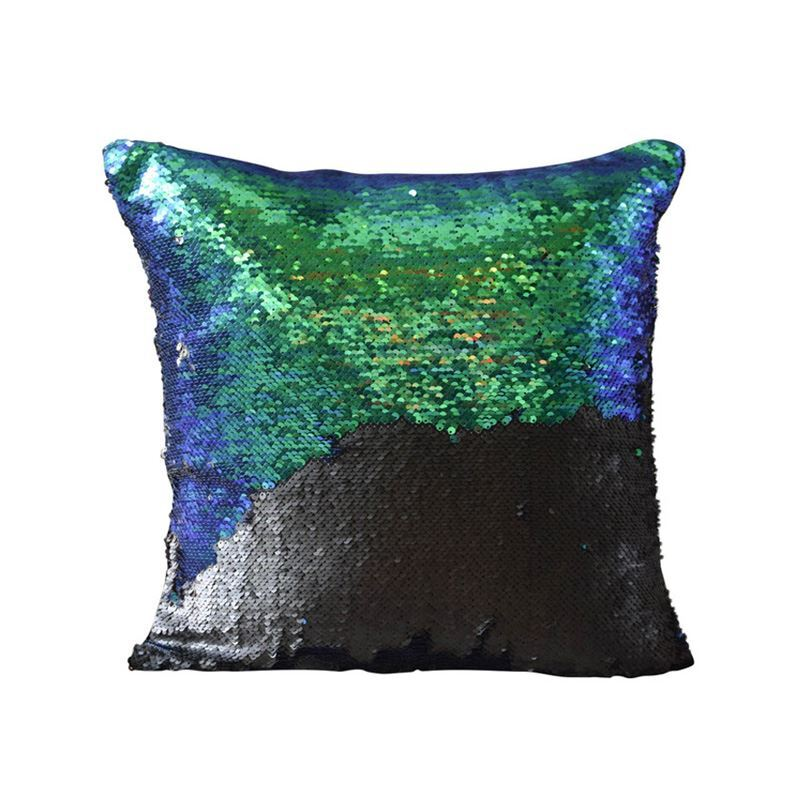 Mermaid Pillow Cover Mermaid Tail Change Color Sequins
