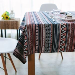Cotton Yarn-dyed Vintage Pastoral Southeast Asian Restaurant Tablecloths Rectangular Cloth Tea Table Cloth