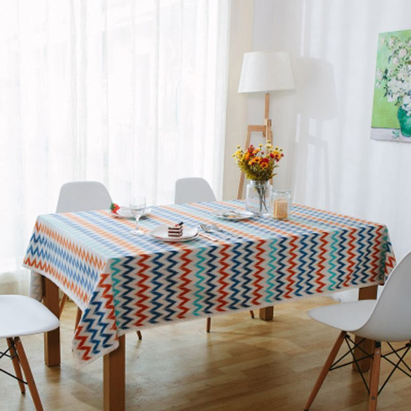 Nordic Pop Art Fresh And Modern Thick Canvas Linen Lace